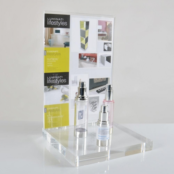 China CD-054 Plexiglass acrylic cosmetic display makeup stand