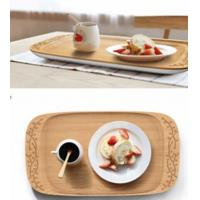 "China 17""x9"" Bamboo Tray with Carving wholesale"