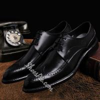 China Shoespie Vintage Brogue Pointed Toe Men