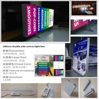 7cm/10cm double side canvas fabric led light box billboard
