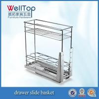 China Chrome steel kitchen wire pull-out basket wholesale