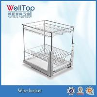 China Chrome steel kitchen wire pull-out basket for dish wholesale