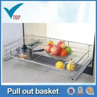 China Stainless steel kitchen cabinet pull out basket wholesale