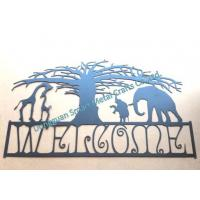 China African style Metal Welcome sign Laser cut metal wall sign wholesale