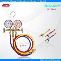 China CM-536G-R410-BV With Sight Glass Brass Testing Manifolds Refrigerants Manifolds Series wholesale