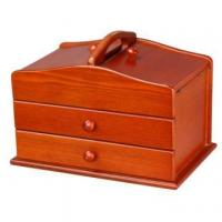 Wood Sew Basket Box with Drawers