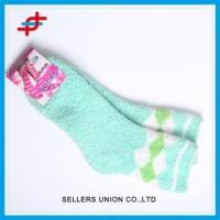 China Custom Premium Soft Warm Microfiber Fuzzy Cozy Socks wholesale