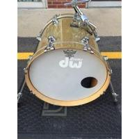 "China USED DW Collectors Maple Standard FP 16x18"" Gold Glass Sparkle Bass Drum wholesale"