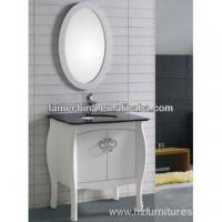 China Antique Floor Wood Bathroom Vanity granite countertop North American bathroom cabinet FM-S1201 wholesale