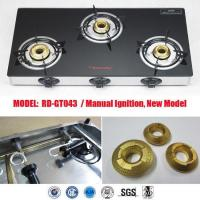 China Indian Model 3 burner glass top (RD-GT043) wholesale