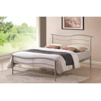 China Time Living Waverley 4ft6 Double Silver Metal Bed Frame on sale