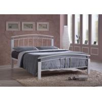 China Time Living Tetras 4ft6 Double White Metal Bed Frame on sale