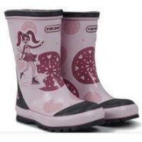 China non-slip high quality warm ladies rubber rain boot with cute printing on sale