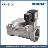 China 4'' big orifice ss304 flange stainless steel solenoid valve on sale