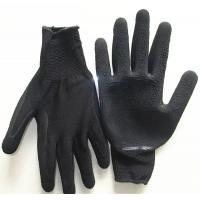China Breathable Nylon liner latex foamed palm coated working gloves wholesale