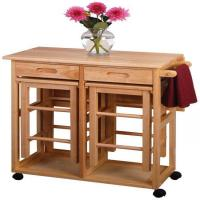China Winsome Space Saver - Drop Leaf Table with 2 Square Stools wholesale