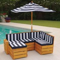 China Outdoor Sectional with cushions wholesale