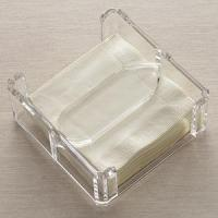 China Acrylic Counter Displays Lucite Clear Napkin Holder wholesale