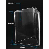 China Acrylic Table Tent Clear acrylic A5 menu holder with three sides wholesale