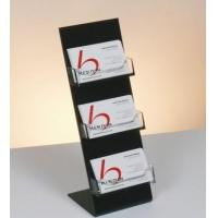 China Acrylic Card Holder Acrylic card holder with black base and three clear holders wholesale