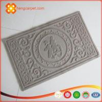 China Hot new nail bottom surface embossed polyester waterproof doormat wholesale