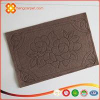 China New product Striped polyester embossed surface pvc door mats wholesale