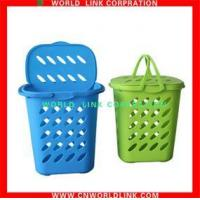 China Two handle square laundry basket (with lid) wholesale