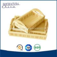 Wooden trays with handles