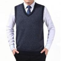 China Men's formal knitted vest wholesale