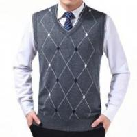 China Men's wool knitted vest wholesale