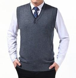 Quality Men's knitted sweater vest for sale