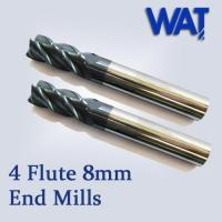China 4 Flute 8mm Standard Solid Carbide End Mill wholesale