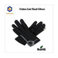 China cotton lint touch screen glove for all touch screen device like smart phone and keep warm wholesale
