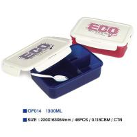 China Easylock plastic lunch box with spoon OF014 wholesale