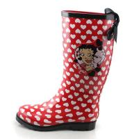 China red women rubber rain boots SY013 on sale