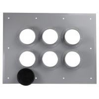 China High Pure Alluminum Alloy 6 Port Entrance Panel Through-wall Type MK-EPT6 wholesale