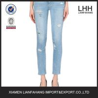 China Ripped in style jeans for women wholesale