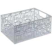 """China Cutlery Punched Metal Rectangular Storage Box White 14""""L x 10 1/2""""W x 6 1/4""""H wholesale"""