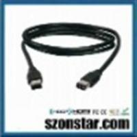 China 1.8 Meter - 6 Pin to 6 Pin FireWire 400 / IEEE-1394 / iLinkDV Cable - Black on sale