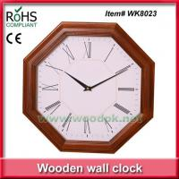 China WK802336 cm New design office decor wood quartz art wall clock wholesale