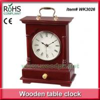 China WK302624.5x31.5 cm Green product timber promotional desk clock wholesale