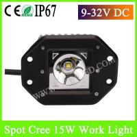 China 47 inch Flush Mount Spot LED Work Light 15w for car and Motorcycle on sale