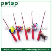China Pet Toys Telescoping Fishing Rod Spin Feather Wand Cat Toy wholesale