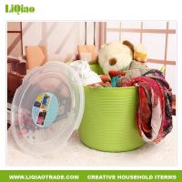 China Bathroom products Janpanese style plastic dirty clothes storage basket wholesale
