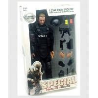 Buy cheap SWAT Black Uniform Action Figure Model Toy Military Army Combat Game Toys Soldier Set from wholesalers