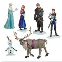 Buy cheap Frozen Anna Elsa Hans Kristoff Sven Olaf PVC Action Figures Toys Classic Toys from wholesalers