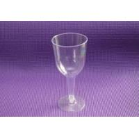 China Disposable plastic glasses 5.5 clear connected champagne wholesale