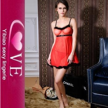 Quality Transparent Nighty Wear Sexy Open Big Breast Lingerie Mature Women Sex Babydoll Dress for sale