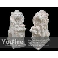 China Detailed Carving Outdoor White Marble Lion Sculpture wholesale