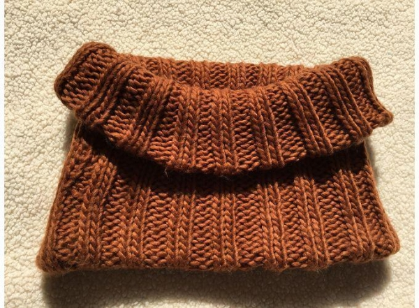 Quality Infinity Knit Scarves In Chocolate Brown for sale